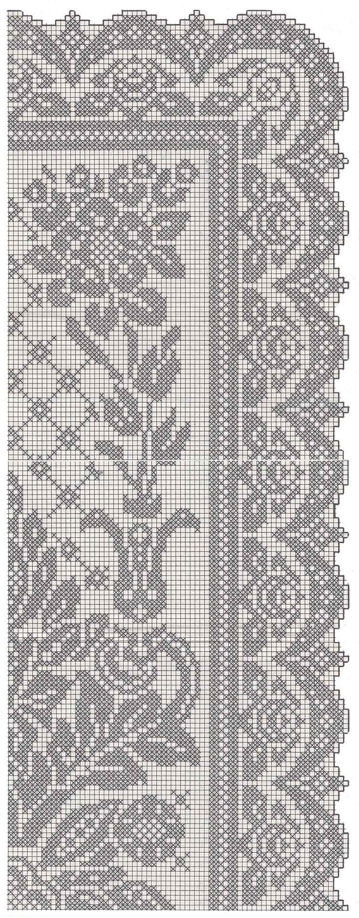 Grande striscia da tavolo schema crochet everything crochet filet crochet e thread crochet - Striscia uncinetto per tavolo ...