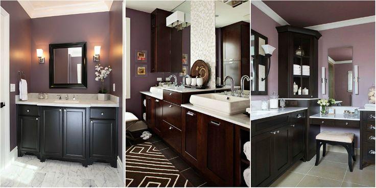 14 best images about master bathroom on pinterest for Deep purple bathroom ideas