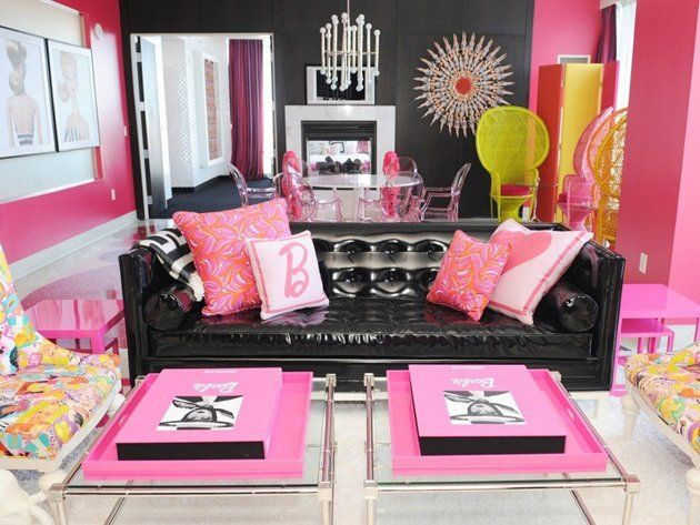 Palms Hotel's Barbie Suite: Las Vegas // Leave it to Las Vegas to bring Barbie's Dream House to life, courtesy of famed potter/interior designer Jonathan Adler, who created the Barbie Suite at the always-over-the-top Palms Hotel.