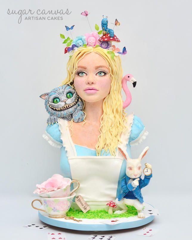 Alice In Wonderland inspired cake for Cakeflix collaboration! Cake flavour: vanilla bean cake, lemon syrup, honey lavender buttercream, blackberry crème fraîche mousse. Instagram: sugarcanvas facebook: sugarcanvascakes