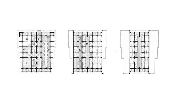 Plan of entrance, upper floor, roof void