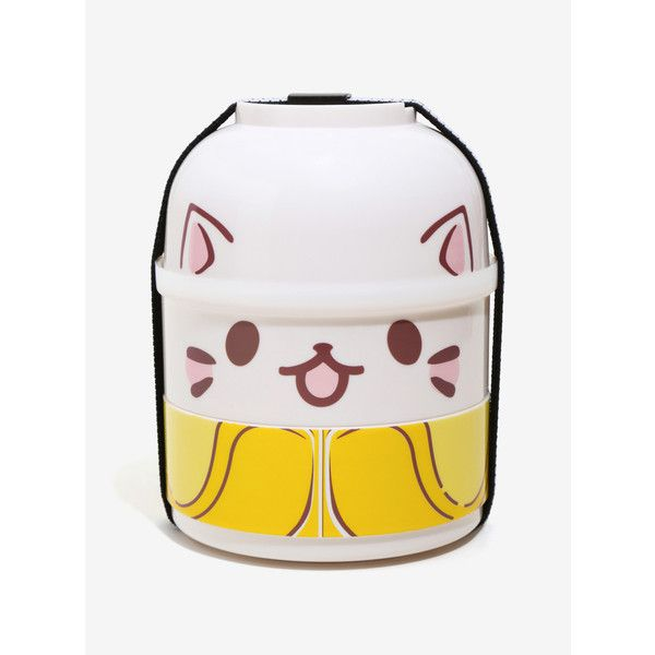 Bananya Bento 4 Piece Box ($14) ❤ liked on Polyvore featuring home, kitchen & dining, food storage containers, binto box, bento lunch box, stacking boxes, bento box and lunch boxes