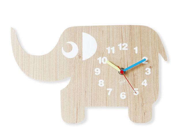 Fun Animal Wooden Wall Clock//