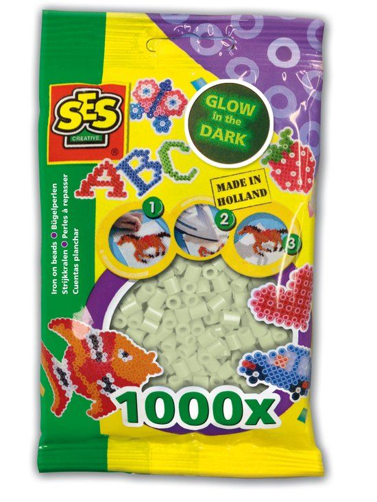 Strijkkralen SES: 1000 stuks glow in the dark (00749)