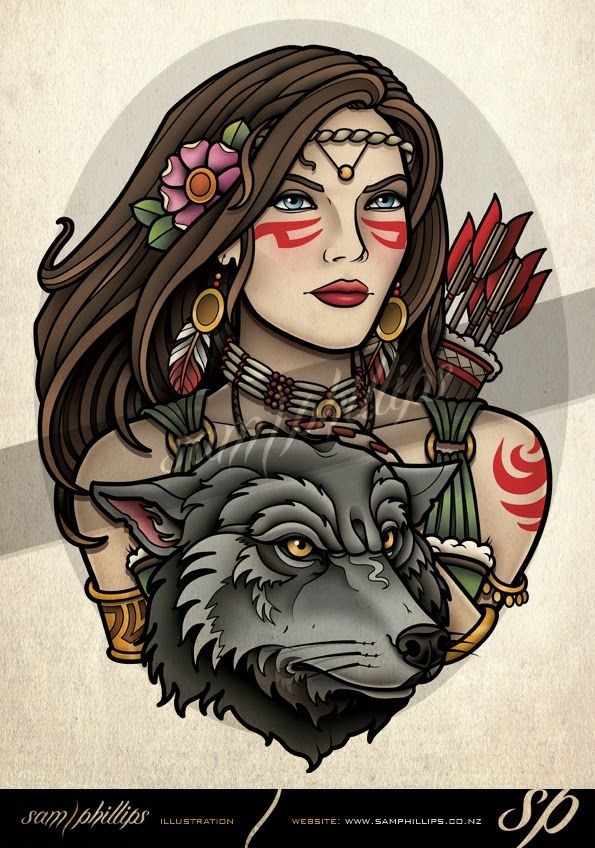 hunter-wolf-tattoo.jpg (Obraz JPEG, 595×848 pikseli) - Skala (71%)