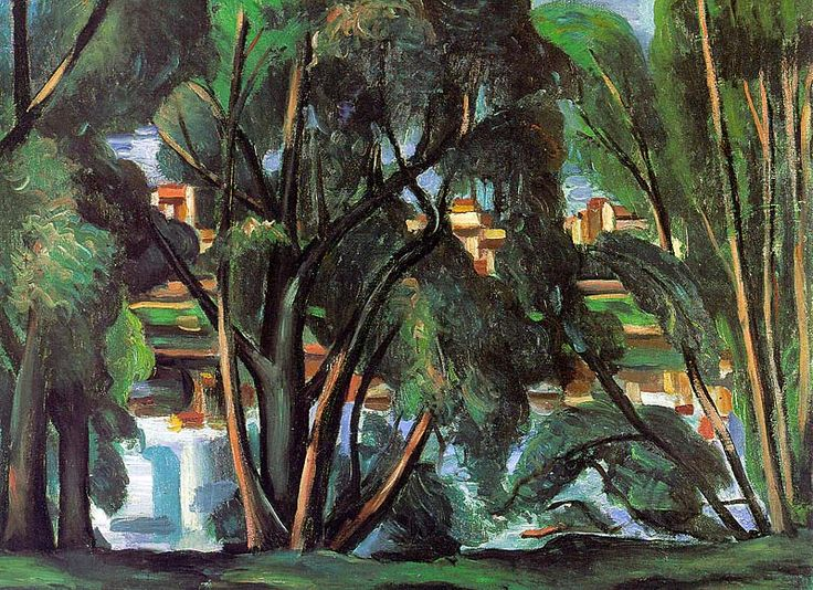 Andre Derain: Trees on the Seine (1913)