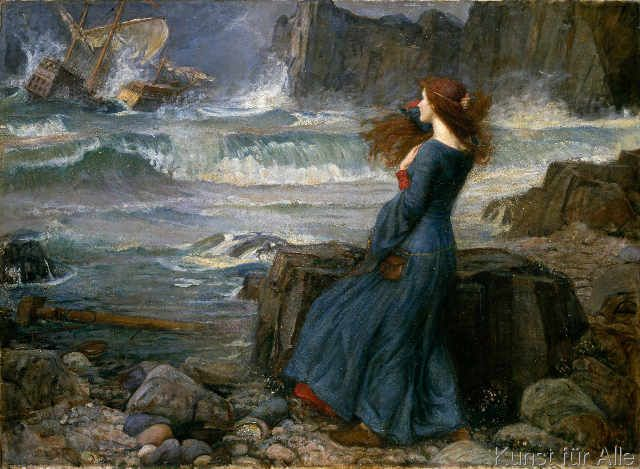 John William Waterhouse - Miranda-The Tempest