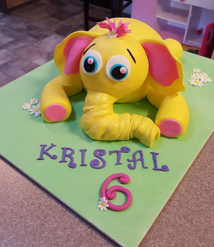 Yellow elephant 3D cake  https://www.facebook.com/SweetToppers/