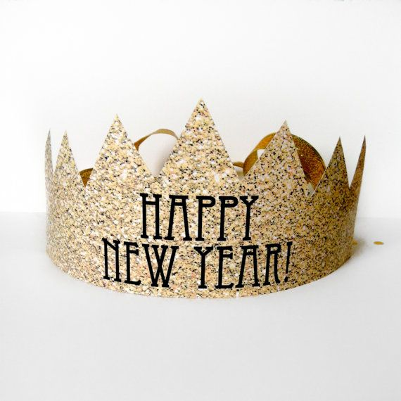 Printable download for New Year's glitter crown