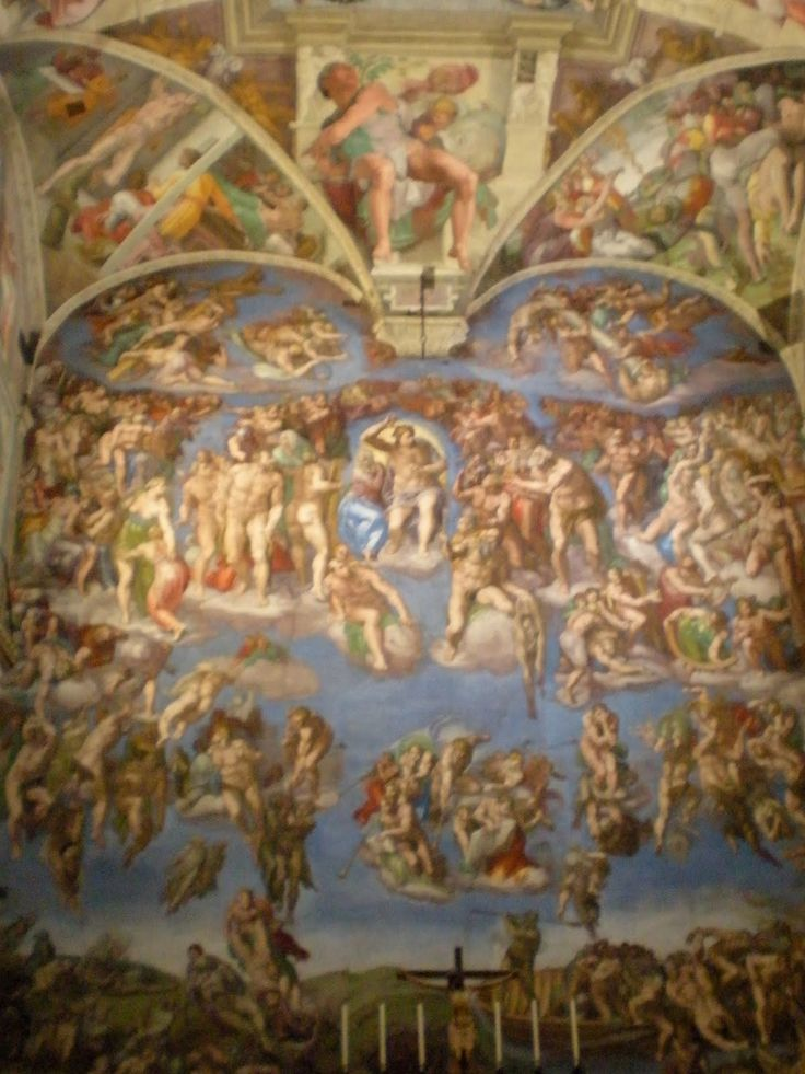 micheal angelos last judgement Michelangelo chalk portrait of  his most famous paintings are huge frescos, the sistine chapel ceiling and the last judgement  michael and jill dunkerton.