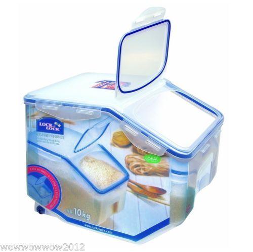 406oz 12l grain pet food caddy w wheel lock n lock food container hpl510 food storage. Black Bedroom Furniture Sets. Home Design Ideas