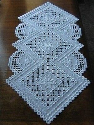 HARDANGER TABLE-RUNNER - beautiful work!