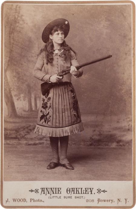 Annie Oakley, Little Sure Shot, with Shotgun