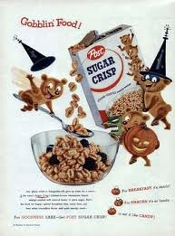 Sugar Bear with Post Sugar Crisp: Circa 1963 1980, 1950S 1960S, Commercials Advertising, 60S Holiday, Vintage, Advertising Character, 1960S 1970S, Sugar, Halloween