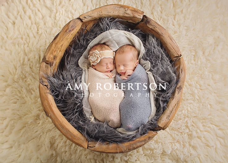 Amy Robertson Photography - newborn twins boy girl