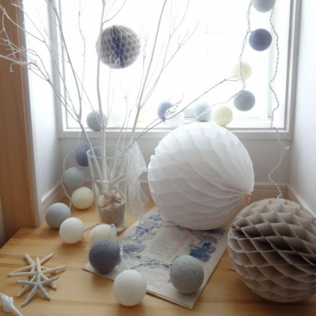 手作りのハニカムボールをインテリアに♡参考になる飾り方7選