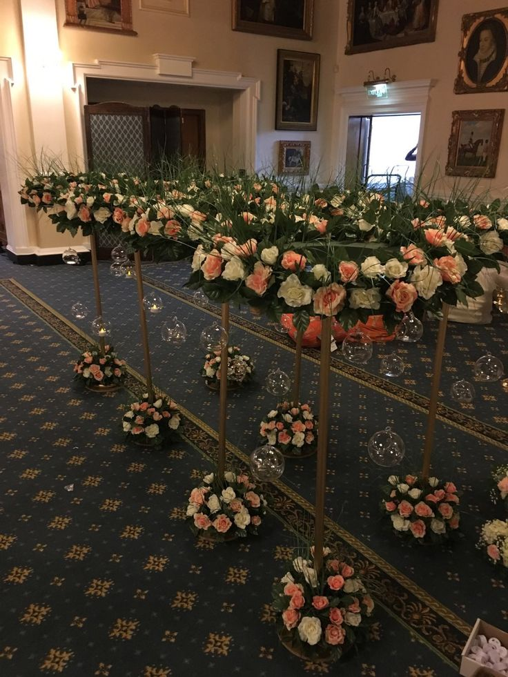 Tall table flower decorations by cathey's flowers