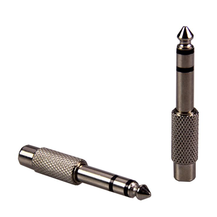 50pcs 6.35-RCA connector metal alloy stereo 6.35 male plug-RCA female jack adapter speaker cable terminal audio video connector #Affiliate