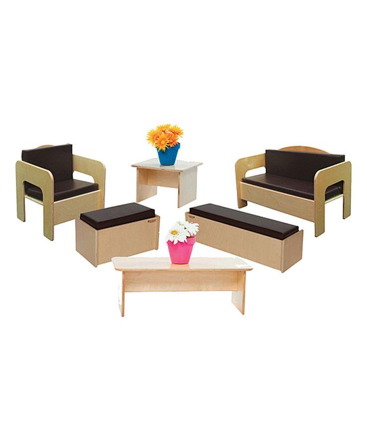 Look what I found on #zulily! Natural & Brown Six-Piece Kids Furniture Set by Wood Designs #zulilyfinds