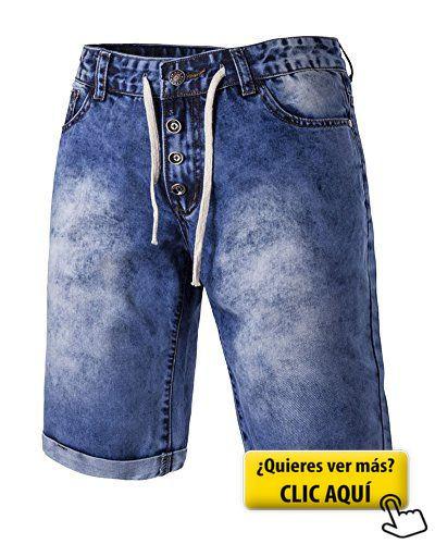 Hombre Pantalón Vaquero Corto Clásico Cintura... #pantalones