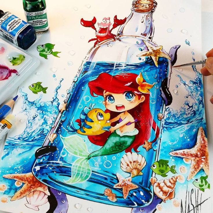 Painting the Ocean and Sea themes means a lot for me. I grew up near the sea. Every time I visit my parents at my old home i am really happy if we visit the Ocean ^_^ ♡♡♡ So my Ar...
