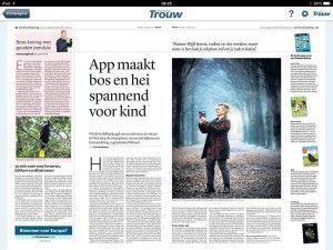 Trouw: App maakt bos en hei spannend voor kind - MetJeSmartphoneHetBosIn.nl