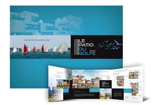 Plaquette commercial programme immobilier Le Patio du Golfe à Sarzeau