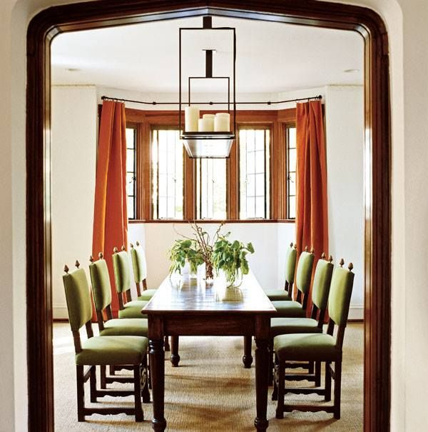 Dining Room Window Treatment: Cool, Updated Architectural Classic