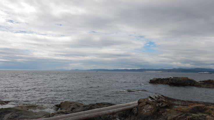 Enjoying the view and fresh ocean air