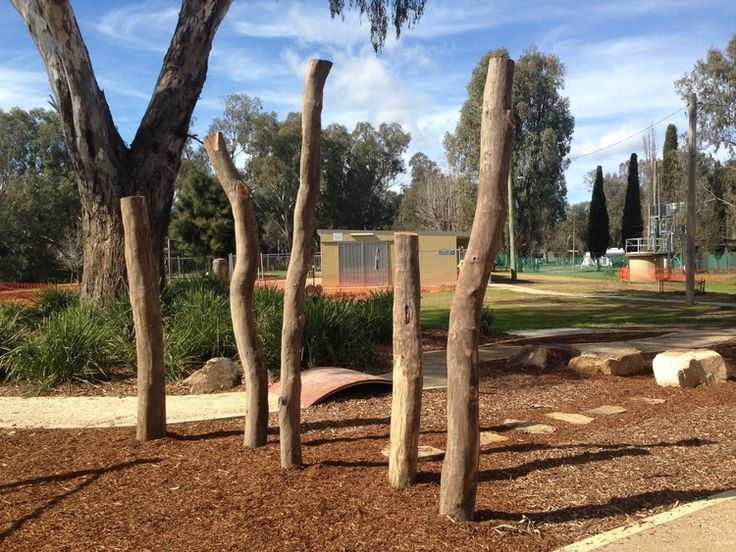 Natural play space #naturalplayspace #totempoles #waggabeach #timbersculpture #somewherelandscapearchitects #somewherela
