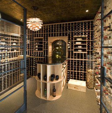 Nadia Designs contemporary wine cellar
