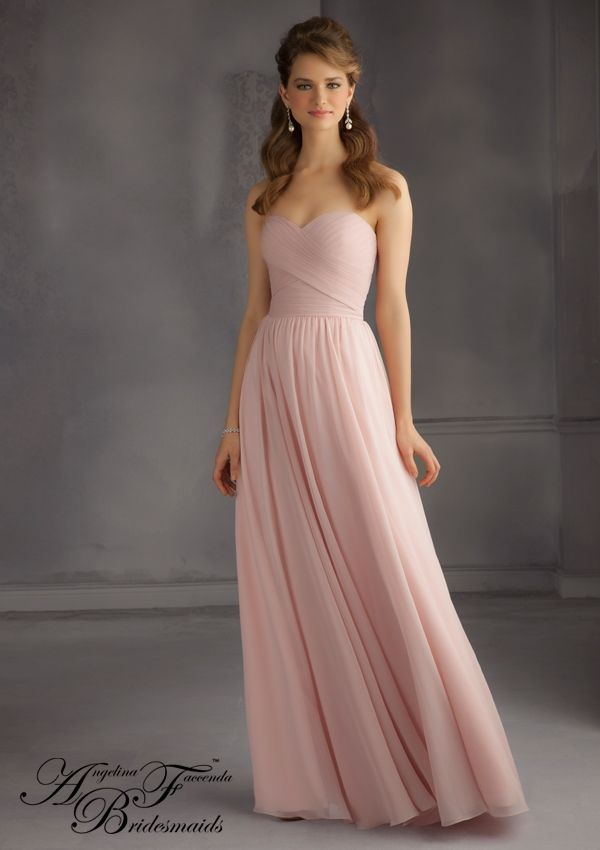 25 best ideas about chiffon bridesmaid dresses on for Mori lee taffeta wedding dress