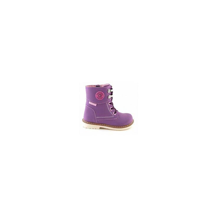 Ботинки для девочки осень весна сиреневые Sursil-Ortho