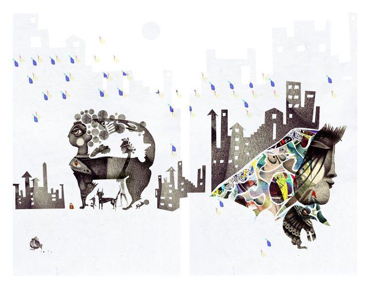 There's a rainy day.. #collage #pencil #artsy #instaartsy #mixedmedia #wacom #drawing #collage #illustrator #illustration #iuliaignatillustration #lmrignat #behancereviews #behance #drawingoftheday #artoftheday #illustagram #photoshop