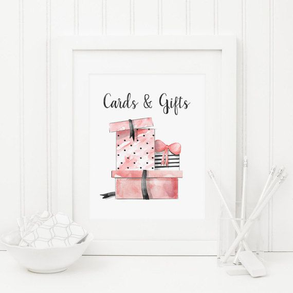 Cards and Gifts Table Sign Printable Cards & by MossAndTwigPrints