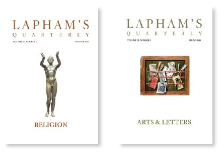 """$49 Get 1 Free Trial Issue! A typical issue features an intro Preamble from Editor Lewis H. Lapham; apprx 100 """"Voices in Time"""" — that is, appropriately themed selections drawn from the annals & archives of the past — and newly commissioned commentary & criticism from today's preeminent scholars & writers. Myriad photographs, paintings, charts, graphs & maps round out each issue's 224 pgs. Each issue of LQ adopts & explores a single theme. Subscribe by Sept 15th, 2012! I want that future…"""