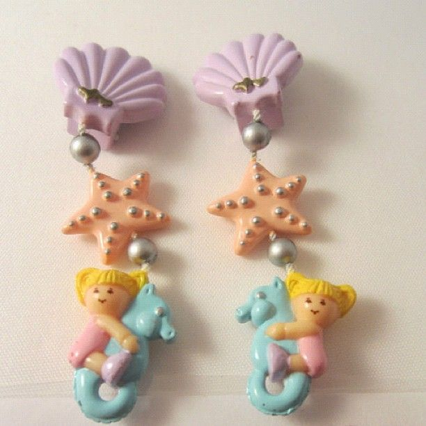 Polly Pocket mermaid earrings!
