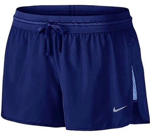 Nike Women's Dri-Fit Run Fast Running Shorts-Deep Royal Blue-Medium