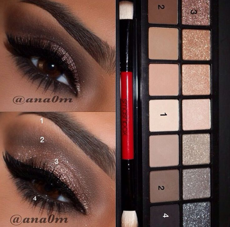 Smashbox full exposure palette look. I love how this even shows which ones she used and which steps!!
