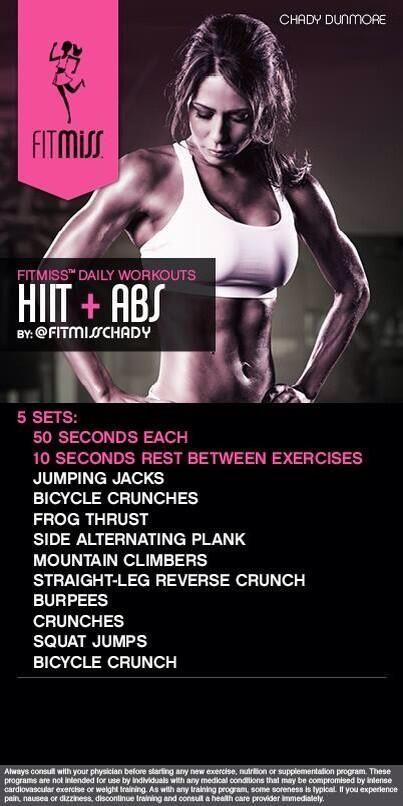 FitMiss HIIT & Abs Workout of the Day