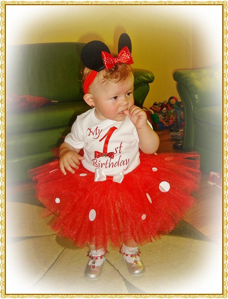 "Set TuTu ""My first birthday"" (89 LEI la BabyBlingTutu.breslo.ro)"