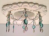 """4"""" Victorian recessed light trim with semi-precious stones"""
