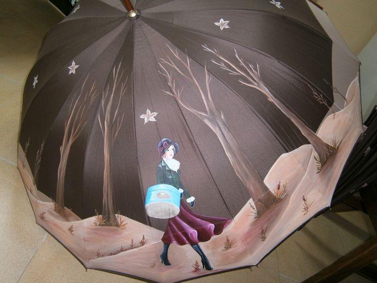 Paraguas pintados a mano                                                                                                                                                                                 Más