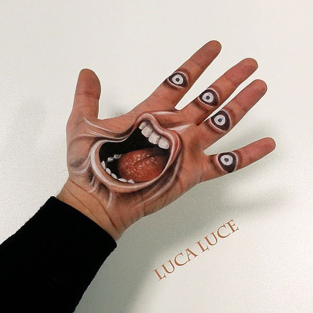 Luca Luce Paints 3D Drawings On His Palm And His Work Is Amazing Don't Forget…