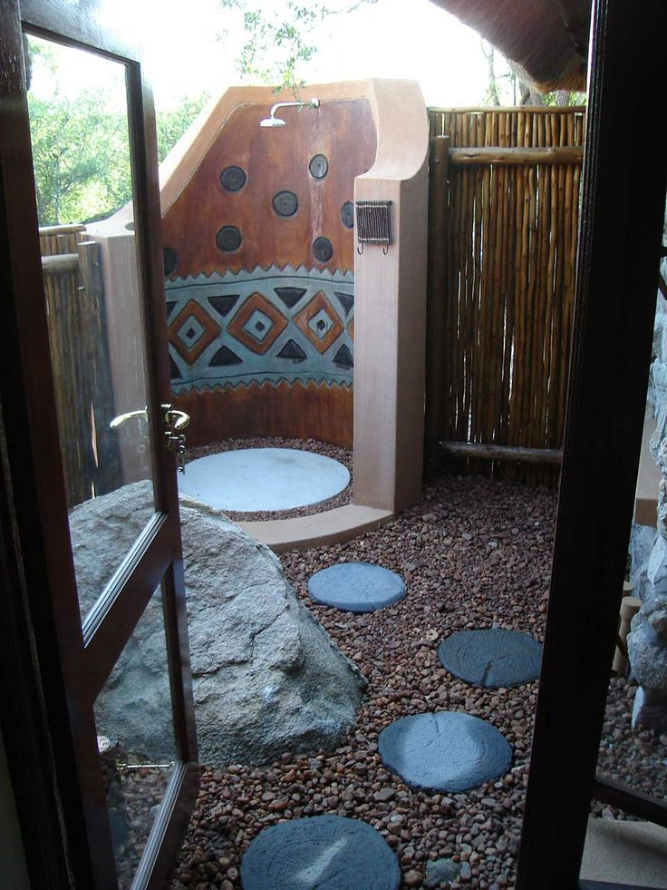 Decorated Outside shower