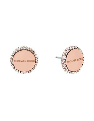 83ccf19bb ... Accessories New Arrivals Cubic Zirconia and Crystal Stud Earrings  Hudsons Bay MICHAEL KORS Michael Kors Crystal Bezel Stud Earrings.  michaelkors ...