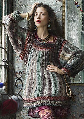 (via #09 Folkloric Tunic pattern by Cornelia Tuttle … | knit and crochet)