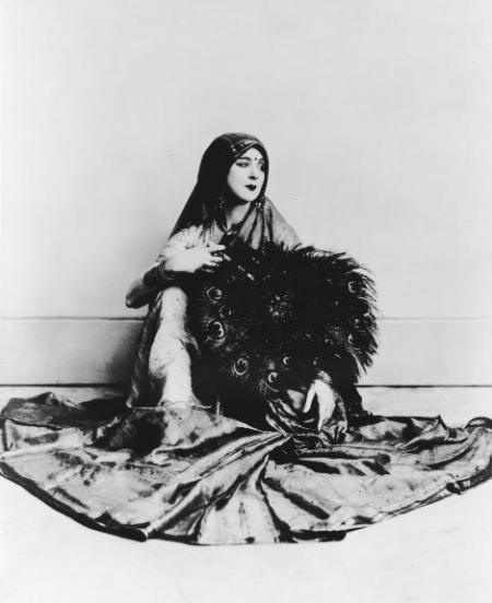 Ruth St. Denis in Legend of the Peacock, 1914