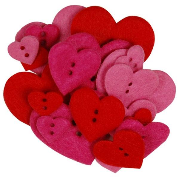 Craftime Happy Hearts Fashion Buttons £2.49 #dunelm #heart #valentine #craft
