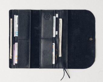 the hustler wrap wallet with phone sleeve // hand-sewn brown by HUSTLEANDHIDE | Etsy